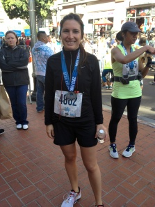 After my first half marathon, March 2013