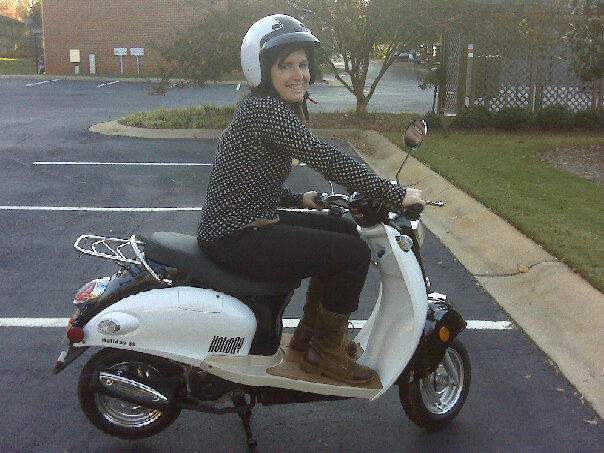 Me and my scooter circa 2009.