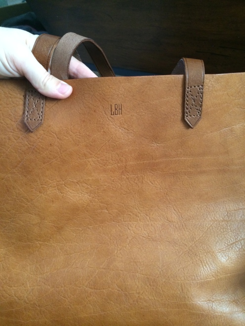 My new Madewell Transport Tote… Jeremy is the best.
