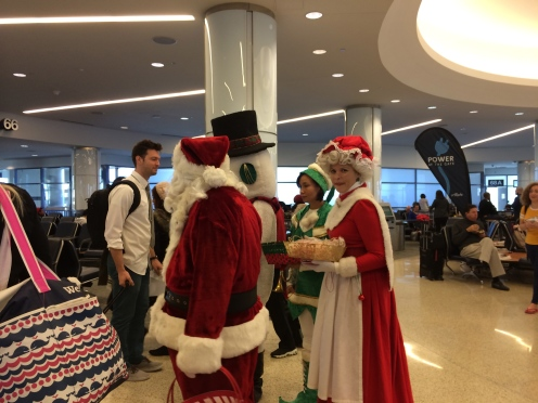 LAX was super festive on Christmas Eve.