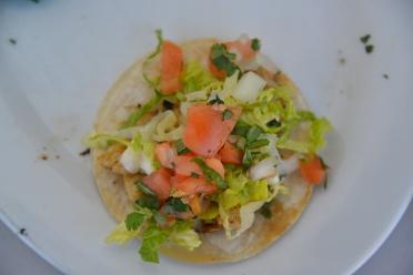 Delicious fish tacos.
