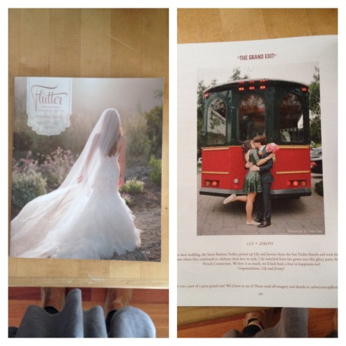 One of our wedding pictures was featured in a magazine called Flutter in October, which was really exciting.