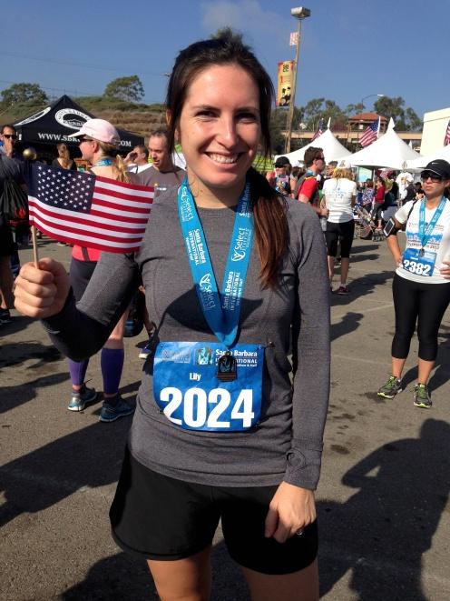 After running the Santa Barbara International Half Marathon in November.