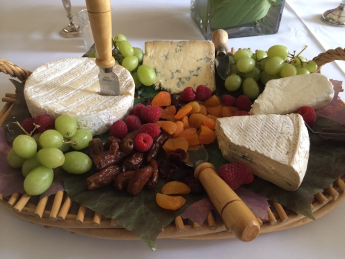 My mom's a pro at making cheese platters.