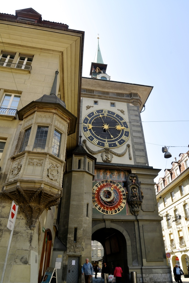 No visit to Bern is complete without visiting Zytglogge, the town's main clock, at the hour to see the little show the moving figures put on.