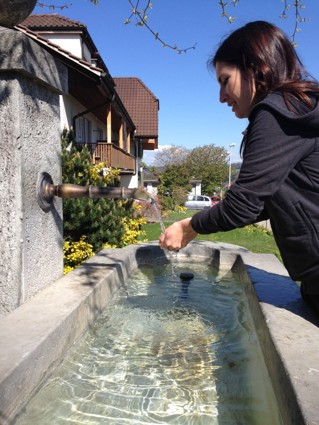 Another great thing about Switzerland... all the public fountains with drinking water straight from the Alps.