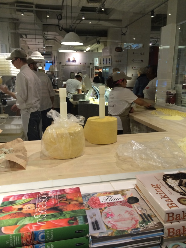 Watching people make pasta in Eataly made me really hungry.