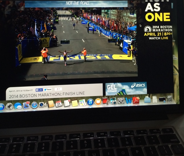 Watching the Boston Marathon!