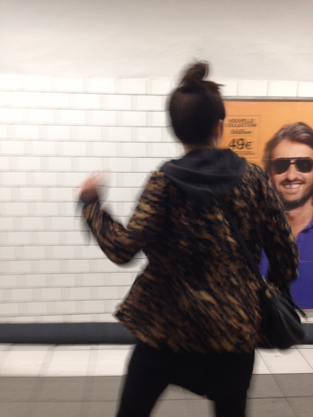 Dancing in the Metro.