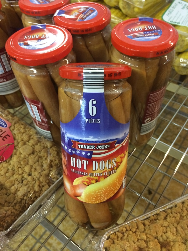 The strangest thing I saw in Honfleur: a jar of Trader Joe's hotdogs. There are definitely no TJ's in Europe and TJ's definitely doesn't sell jars of hotdogs in America... a mystery I'll never solve.
