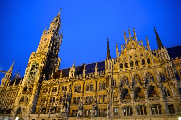 The New Town Hall (Neues Rathaus) in Marienplatz.