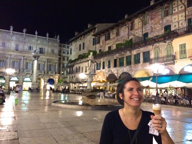 First gelato of many in Italy.