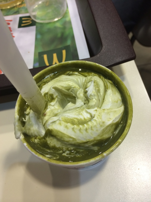 My gross pistachio McFlurry.