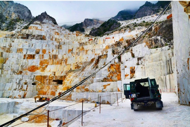 The quarry where Michelangelo got his marble for David.