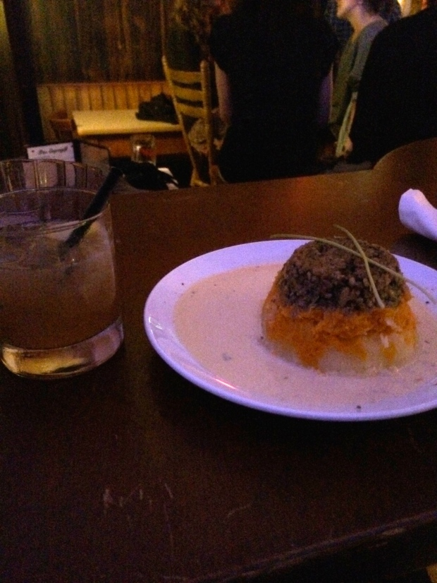 Mini haggis plate, vegetarian style (