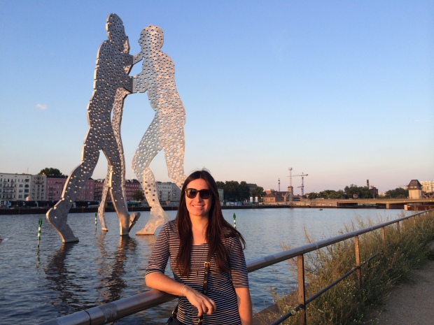 Golden hour with the Molecule Man statue behind me.