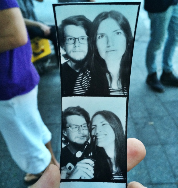 There are photobooths all around the city.