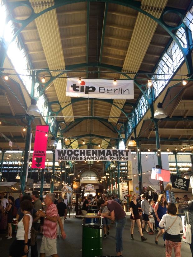 The packed Markthalle Neun.