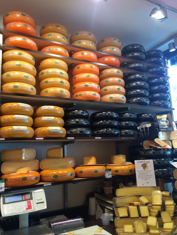 Huge rounds of gouda cheese. My heaven.