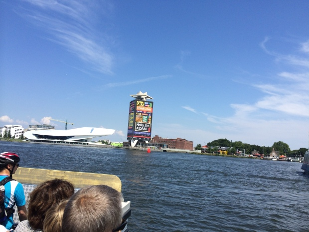We took a five-minute free ferry to Amsterdam Noord and had another picnic.