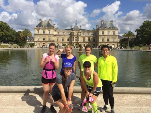 Post-run at the Jardin du Luxembourg.