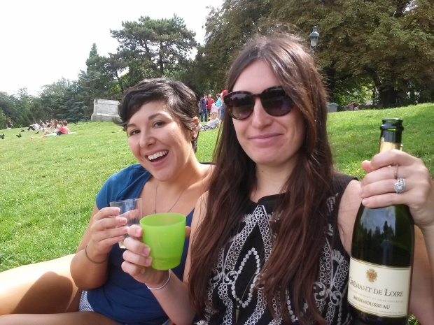 Finally celebrating my birthday with a champagne picnic.