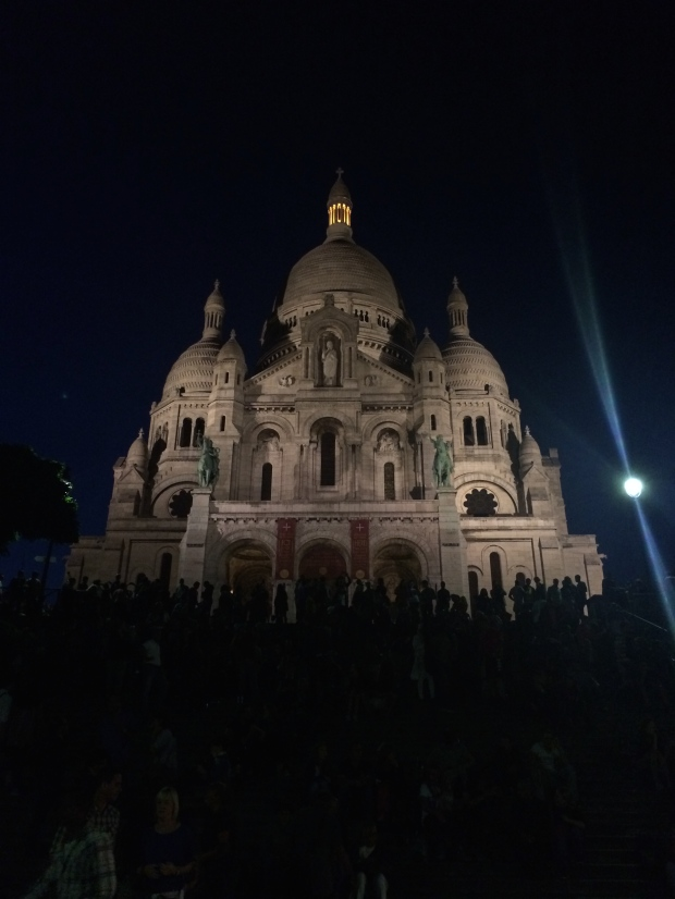 Sacre Coeur at night.