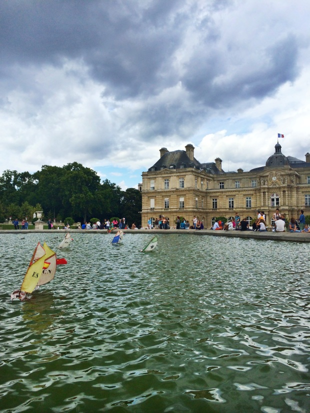 Right before it started raining at Jardin du Luxembourg.