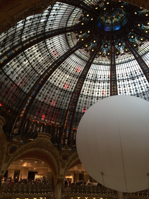 Inside Galleries Lafayette.