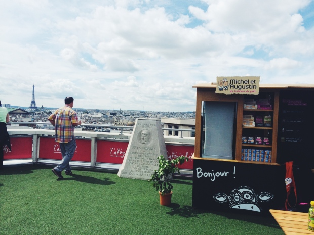 On the roof of Galeries Lafayette.