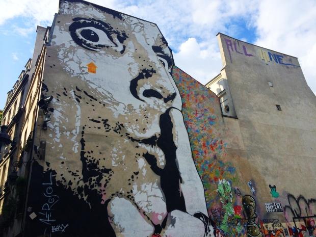 Street art in the Marais.
