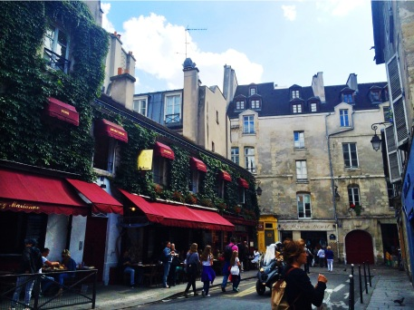 I love this street in Le Marais.