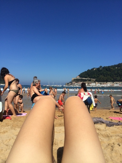 Hot dogs with a shorts tan.
