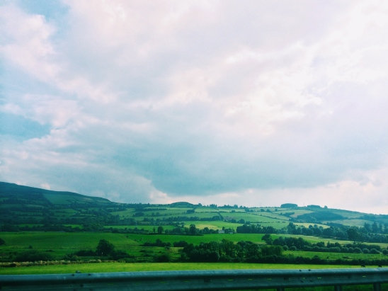 Driving across Ireland; Jeremy drove on the left side of the road like a champ.