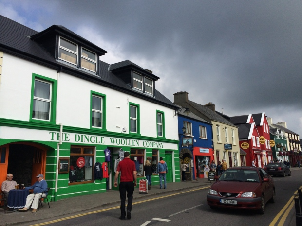 Charming Dingle with some ominous clouds in the background.
