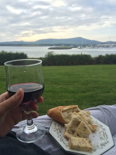 I know I should have been drinking beer since it's Ireland and all, but I had an intense craving for wine and cheese (aka I'm addicted).