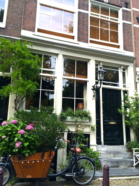 Walking around the charming streets in Amsterdam.