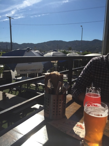 Jeremy and I visited the nearby Golden Road Brewery, and had some nice lunchtime drinks and food.
