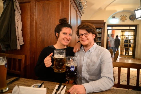 Celebrated Jeremy's birthday at the Hofbrauhaus.