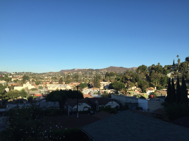 Neighborhood view - I love seeing the Hollywood sign.