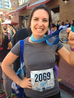Ran the San Diego Half for the second year.