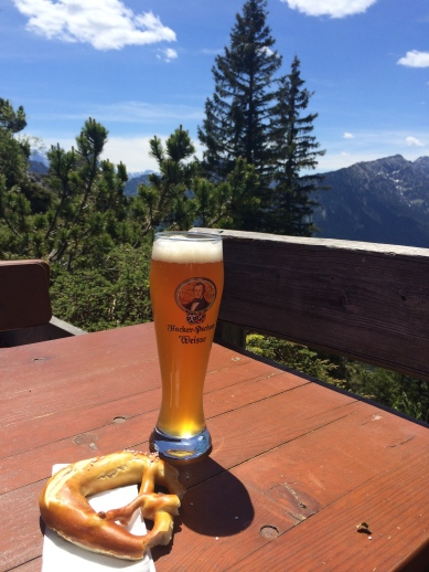 Hiked a mountain for the best beer and pretzels I've ever had.