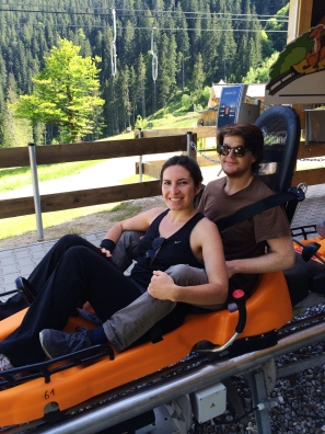 Took an alpine coaster and had the most fun ever.