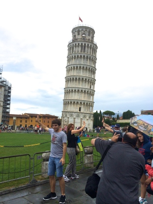 Stopped in Pisa for a night on our way to Rome.