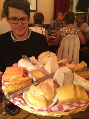The best cheese plate in the history of cheese plates (at Restaurant Astier in Paris).
