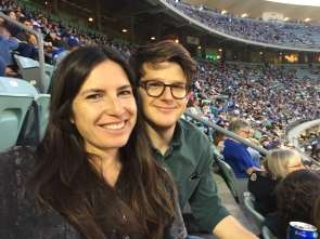 Our first Dodgers game!